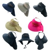 Ladies Pony Tail Canvas Mesh Hat with Flap