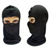 Black Only Ninja Face Mask with Mesh Front