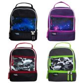 """11"""" Inch Insulated Lunch Cooler with Multiple Compartments in 4 Assorted Colors"""