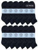 Yacht & Smith Men's King Size Premium Cotton Sport Ankle Socks Size 13-16 Solid Black