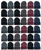 Yacht & Smith Mens Womens Warm Winter Hats in Assorted Colors, Mens Womens Unisex (36 Pairs Assorted)