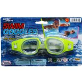"6"" Swimming Goggles On Blister Card, 4 Assrt Clrs"