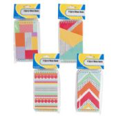4 Pack Geometric Pattern Memo Books