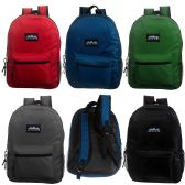 """17"""" Classic Premium Backpacks in 5 Solid Colors"""