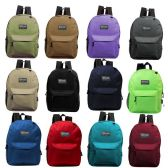 "17"" Kids Basic Backpack in 12 Randomly Assorted Colors"
