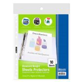 BAZIC Standard Weight Top Loading Sheet Protectors (10/Pack)