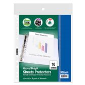 BAZIC Heavy Weight Top Loading Sheet Protectors (10/Pack)
