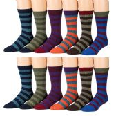 Yacht & Smith Men's Thermal Striped Winter Camping Boot Socks