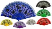 Colorful Fans Flower with Butterfly Print Lace Assorted