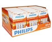 Super Heavy Duty AA Philips Battery in PDQ Display Box