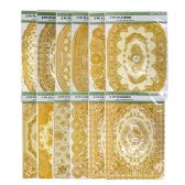 2 Pieces Gold Stamping Waterproof Placemat