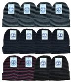 Yacht & Smith Mens Womens Warm Winter Hats in Assorted Colors, Mens Womens Unisex (12 Pack Stripe)