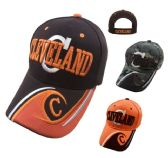 "CLEVELAND Hat ""C"" [C/Wave on Bill] Brown/Orange"