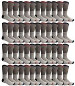 Yacht & Smith Mens Cotton Thermal Crew Socks, Cold Weather Boot Sock Shoe Size 8-12