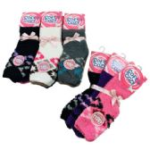 Women's Diamond Pattern Soft & Cozy Fuzzy Socks