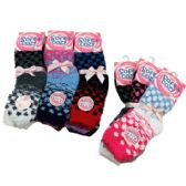 Women's Polka Dot Soft & Cozy Fuzzy Socks