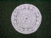 CROCHET ROUND PLACEMAT WHITE SILVER