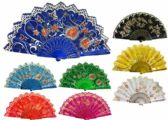 Hand Fan With Flower And Butterfly Design Assorted
