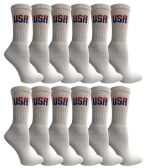 Yacht & Smith Women's Cotton USA Tube Socks, Referee Style size 9-11