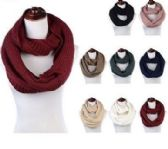 Women's Acrylic Winter Scarf Crochet Knit Tube Scarf Assorted Color