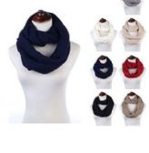 Womens Acrylic Winter Scarf Crochet Knit Tube Scarf Assorted Color
