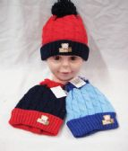 KID WINTER HAT WITH TEDDY BEAR ASSORTED COLOR