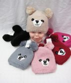 KID WINTER KNITTED HAT WITH FUR LINED AND PO POM