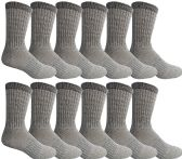Yacht & Smith Wholesale Bulk Merino Wool Thermal Boot Socks (Mens/Assorted, 12)