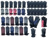 Yacht & Smith Mens Womens Kids Gripper Ski Glove Mix, Assorted Color Fleece Lining