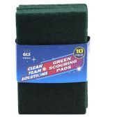 10 PIECE GREEN SCOURING PADS