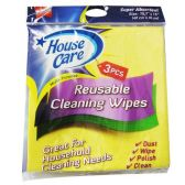 3 Piece Yellow Cleaning Wipes