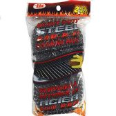 2 Pack Steel Wool BBQ Scouring Pads