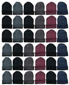 Yacht & Smith Assorted Colored Unisex Winter Beanies 24 Pack