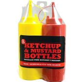 2 PACK KETCHUP AND MUSTARD BOTTLE