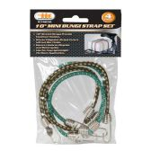 Mini Bungee Strap Set 4 Piece