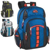 19 Inch Mountain Edge Multi Pocket Daisy Chain Backpack With Laptop Sleeve - 3 Colors