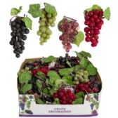 Grape Decor Small Cluster With Silk Leaves