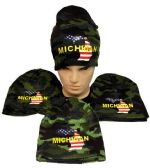 Winter Beanie Hat Michigan Camo