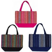 Insulated Lunch Bags in 3 Assorted Jute Prints