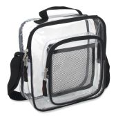 Clear Toiletry Bag - Black