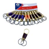 "3.5"" Key Chain Clip [Dual Rings/Gold w Assorted Color]"