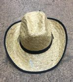 Unisex Adults Straw Cowboy Hat With Adjustable Drawstring