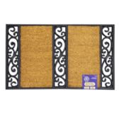 Mat Outdoor Two Step Coco With Black Rubber Trim