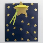 Gift Bag Cub Embellished Blue Starry Night
