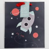 Gift Bag Cub Embellished Rocket To Space Birthday
