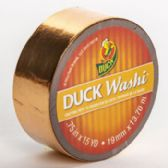Tape Crafting Duck Washi Metallic Copper