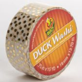 Tape Crafting Duck Washi Metallic Gold Dots