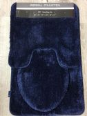 IMPERIAL BATHROOM 3 PIECE RUG SET IN NAVY