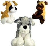 Plush Sitting Dogs