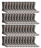 Yacht & Smith 48 Pack Men's Cotton Crew Socks Heavy Cotton Great For Donations and Sock Drives. (Gray, Mens 10-13)